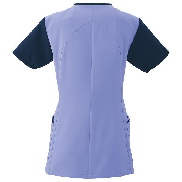 フォーク 医療白衣 ワコールHIコレクション レディスジップスクラブ (サイドジップ) HI701-12 ストエカス×ダークネイビー  M (直送品)