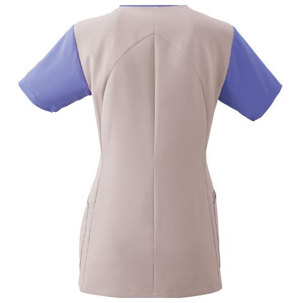 フォーク 医療白衣 ワコールHIコレクション レディスジップスクラブ (サイドジップ) HI701-22 オークル×ストエカス S (直送品)