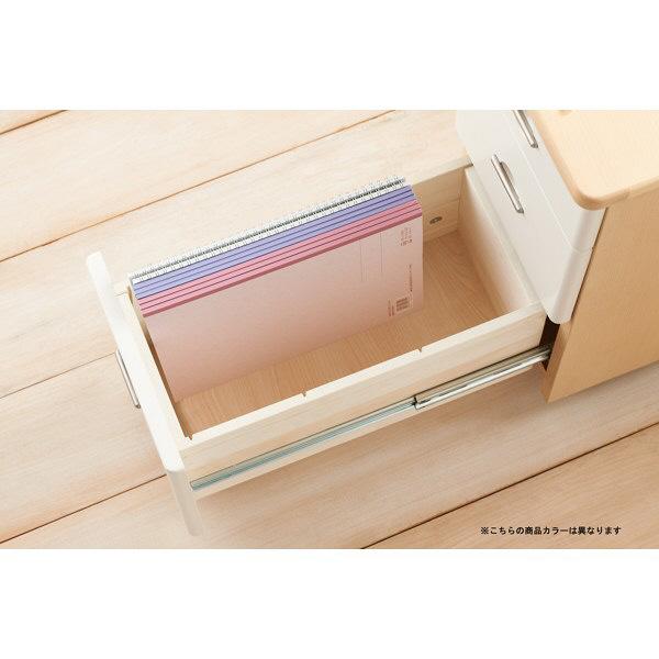 コイズミファニテック Liten(リトゥン) スリムワゴン 3段 チョコブラウン 幅260×奥行455×高さ572mm 1台 (直送品)