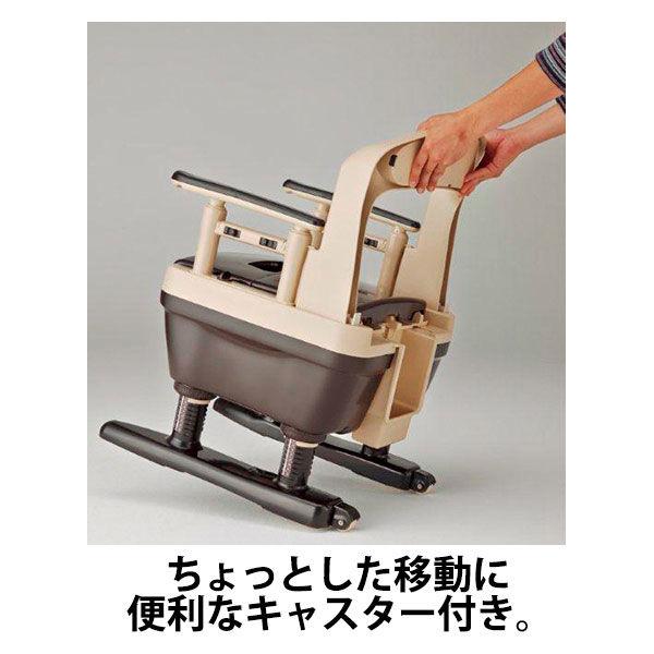 アロン化成 安寿 ポータブルトイレ ジャスピタ ソフト便座 ベージュ 533-921 (直送品)