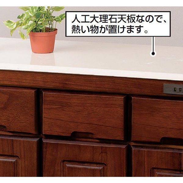 木製キッチンカウンター 幅920mm