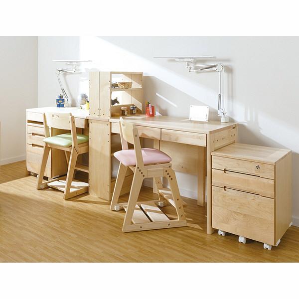 木製チェア ナチュラル/ピンク