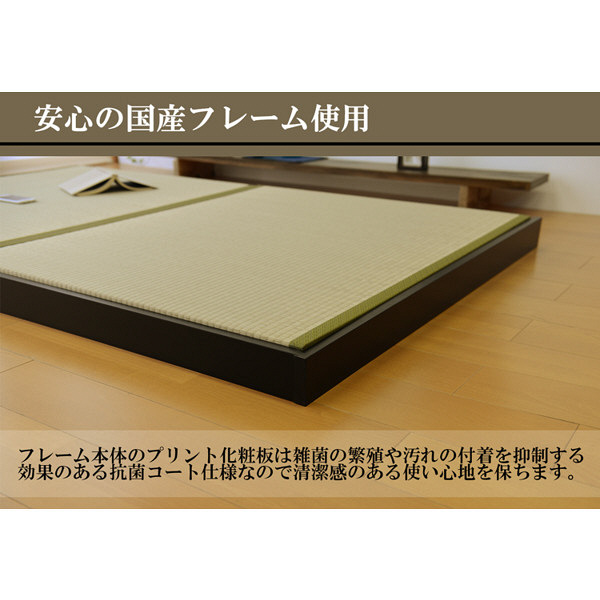 畳ローベッド フロールクロス 和紙 グリーン 広浜 (直送品)