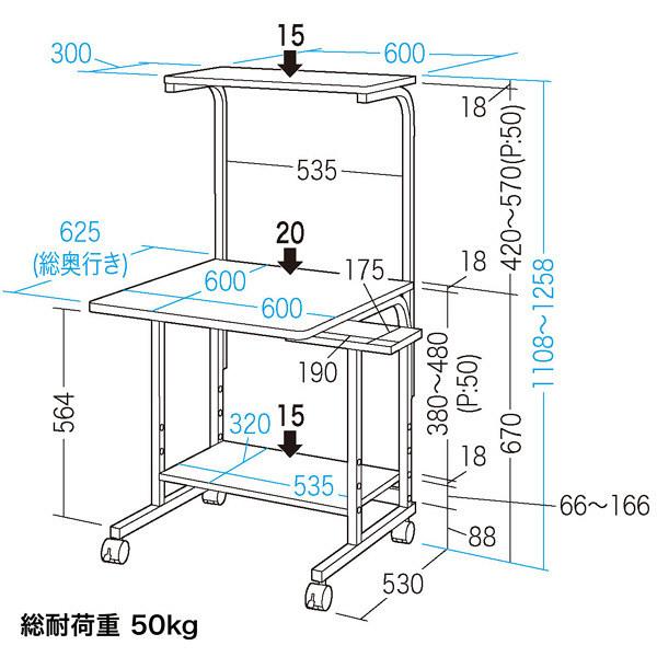 サンワサプライ パソコンラック RAC-EC31 (直送品)