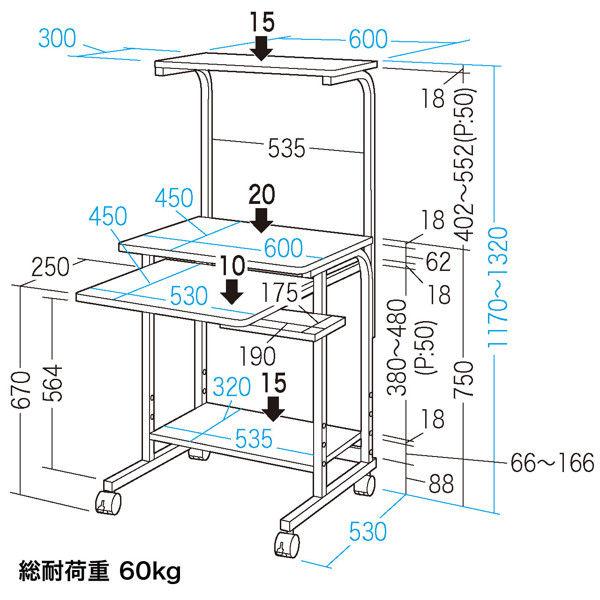サンワサプライ パソコンラック RAC-EC32 (直送品)