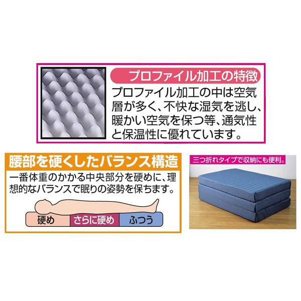 ファミリー・ライフ プロファイル加工バランス3つ折れマットレスD ダブル (直送品)