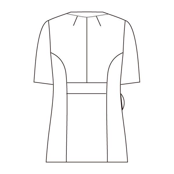 住商モンブラン ローラアシュレイ ナースジャケット レディススクラブ 半袖 ローズ×アメリピンク M LW601-62 (直送品)