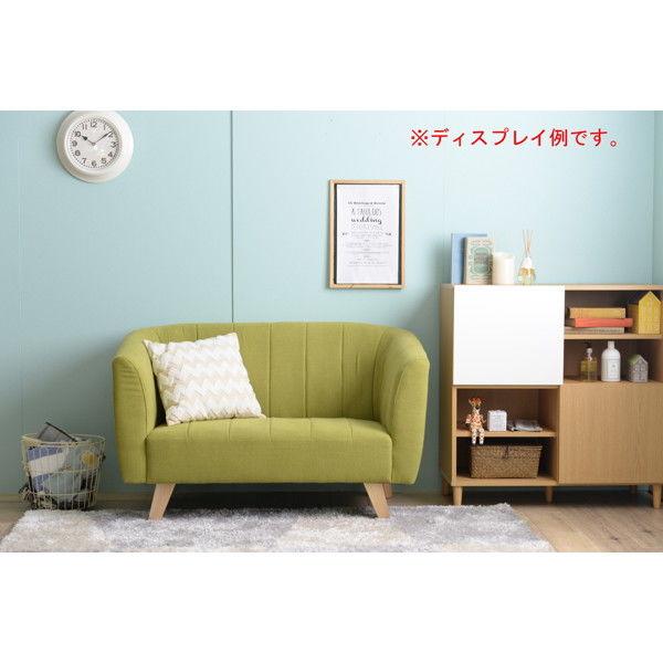 佐藤産業 BELL(ベル)ソファ 2人掛け グリーン BELL_GR 1脚 (直送品)