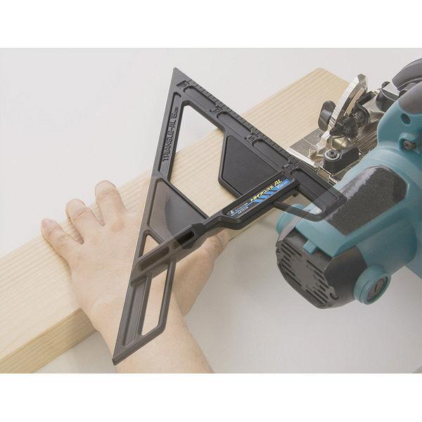 シンワ測定 丸ノコガイド定規 トライアングル AL 15cm 78108 1セット(4個) (直送品)