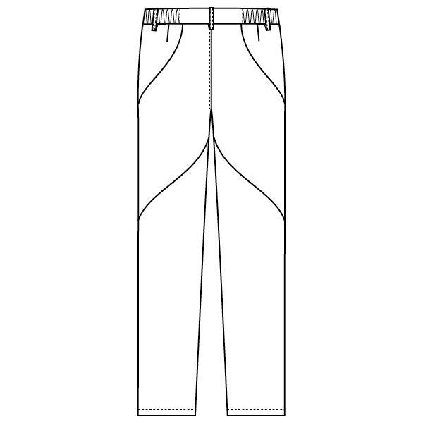 フォーク 医療白衣 ワコールHIコレクション スリムストレートパンツ HI301-9 ブラック LL スクラブパンツ (直送品)