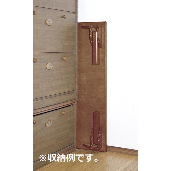 ファミリー・ライフ 木製折れ脚座卓 けやき色 幅750mm 1台 (直送品)