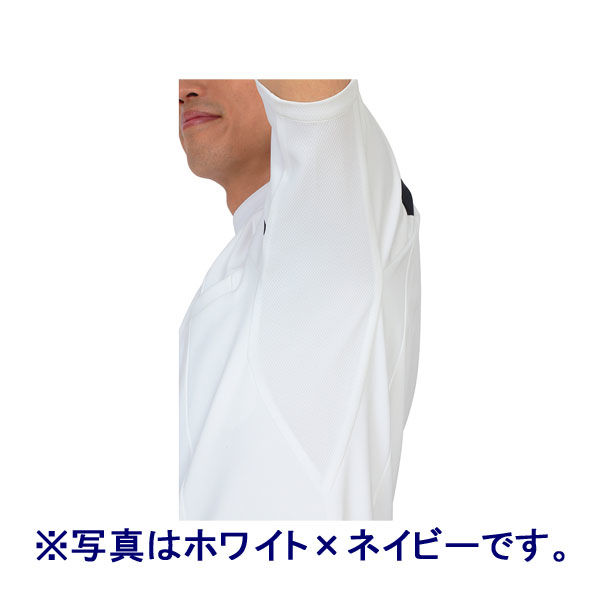 ルコックスポルティフ メンズケーシージャケット(医務衣) ホワイト×ワイン L UQM1007 1枚 (直送品)