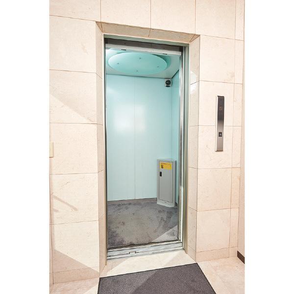 ナカバヤシ エレベーター用防災キャビネット ダイヤルロック スリムタイプ ニューグレー 幅360×奥行230×高さ800mm EVC-102DN 1台(直送品)