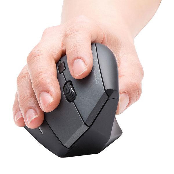 サンワサプライ 無線(ワイヤレス)マウス ブラック エルゴノミクス形状/ブルーLED方式/5ボタン MA-ERGW8 (直送品)