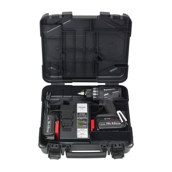 パナソニック Panasonic 充電デュアルドリルドライバー 18V 5.0Ah ブラック EZ74A2LJ2G-B (直送品)