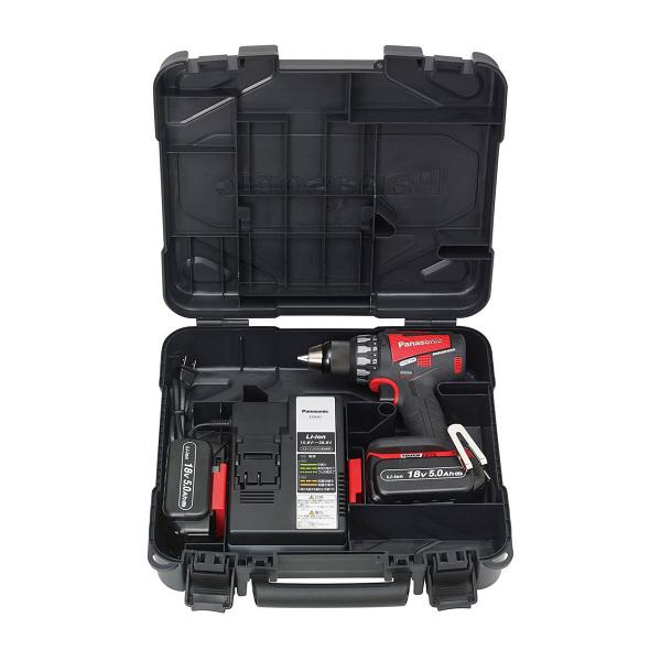 パナソニック Panasonic 充電デュアルドリルドライバー 18V 5.0Ah レッド EZ74A2LJ2G-R (直送品)