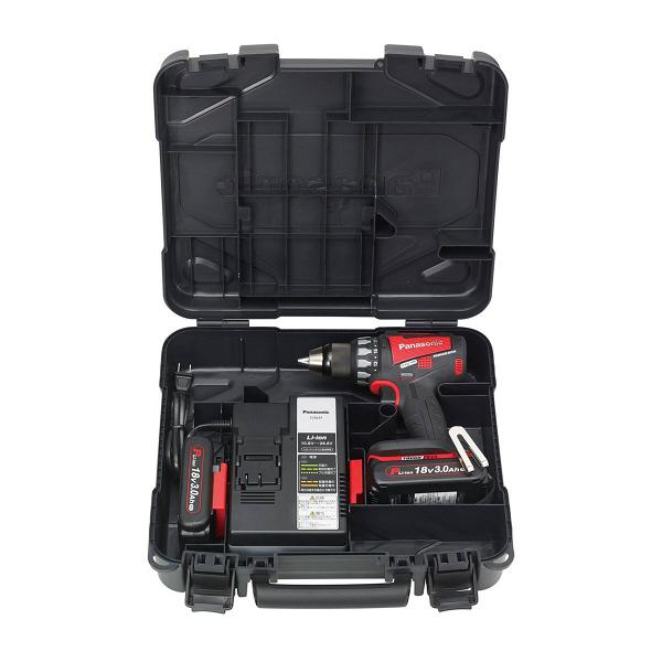 パナソニック Panasonic 充電デュアルドリルドライバー 18V 3.0Ah レッド EZ74A2PN2G-R (直送品)