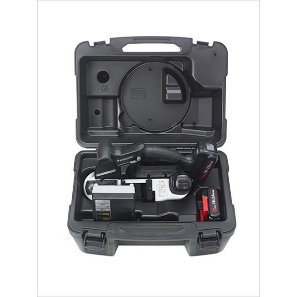パナソニック Panasonic 【DUAL】 充電バンドソー(14.4V/18V両用) 3.0Ah予備電池付 ブラック EZ45A5PN2G-B (直送品)