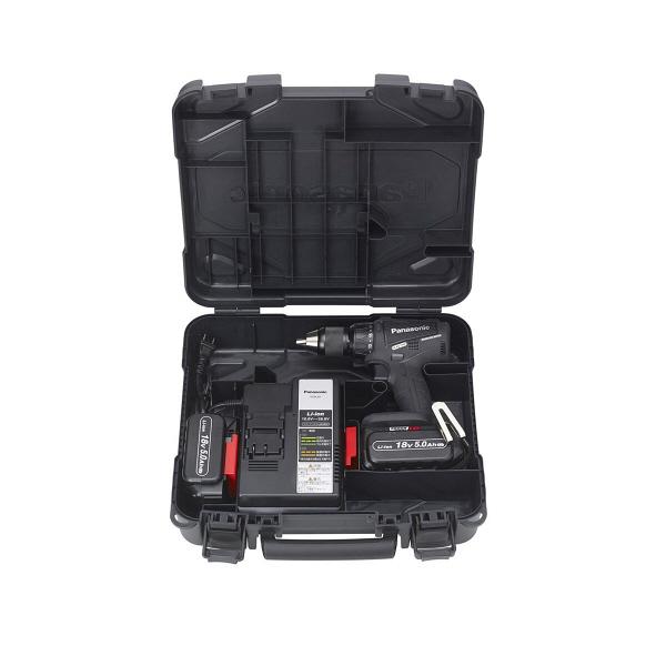 パナソニック Panasonic 充電振動ドリル&ドライバー 18V 5.0Ah ブラック EZ79A2LJ2G-B (直送品)