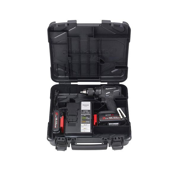 パナソニック Panasonic 充電振動ドリル&ドライバー 18V 3.0Ah ブラック EZ79A2PN2G-B (直送品)