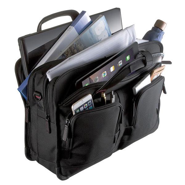 サンワサプライ エグゼクティブビジネスバッグPRO ダブル ブラック/15.6インチワイドまで対応 BAG-EXE8 (直送品)