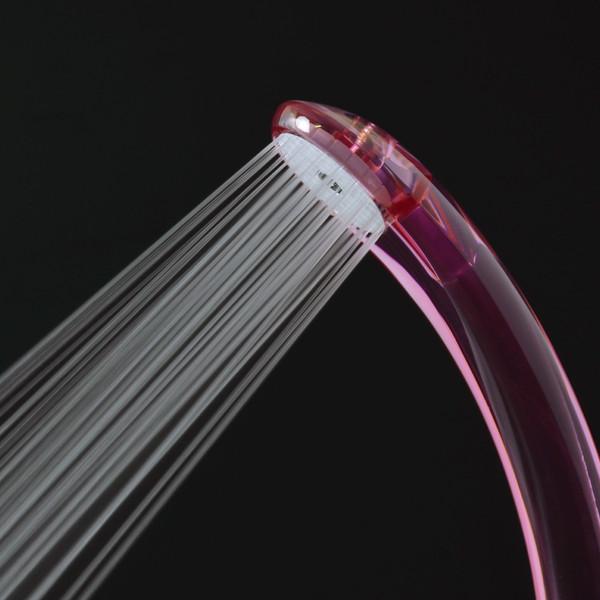 ガオナ シャワーヘッド クリア (節水30% 低水圧対応 日本製 ピンク) GA-FA004 (直送品)