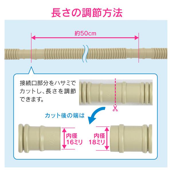 これカモ ドレンホースと消音バルブのセット エアコン用 3.0m (長さ調節可能 ポコポコ音解消 防臭・防虫効果 取付簡単) GA-KW004 (直送品)