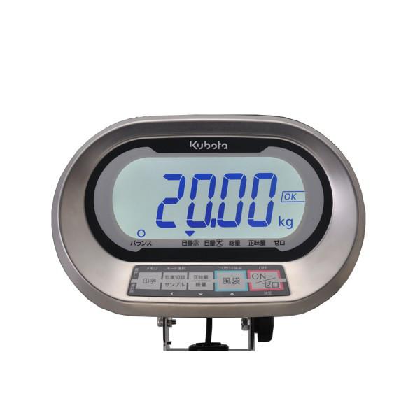 クボタ計装 防水防塵デジタル台はかり60kg用(検定品) KL-IP-K60A(地区9-10) (直送品)
