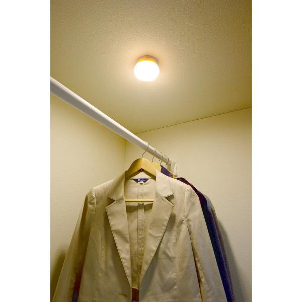 アイリスオーヤマ 乾電池式屋内センサーライト マルチタイプ 電球色 シーリングライト BSL40ML-U (直送品)