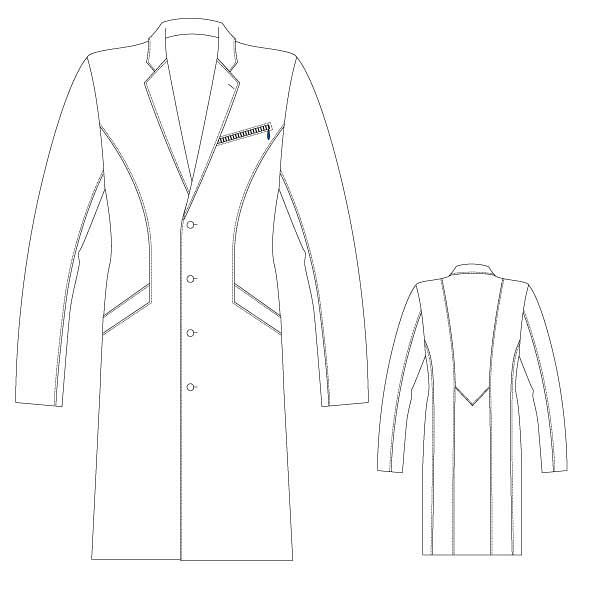 ドクターコート メンズ ホワイト L