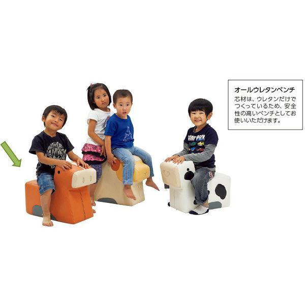 オリバー キッズ アニマルベンチクッション ウマ (直送品)