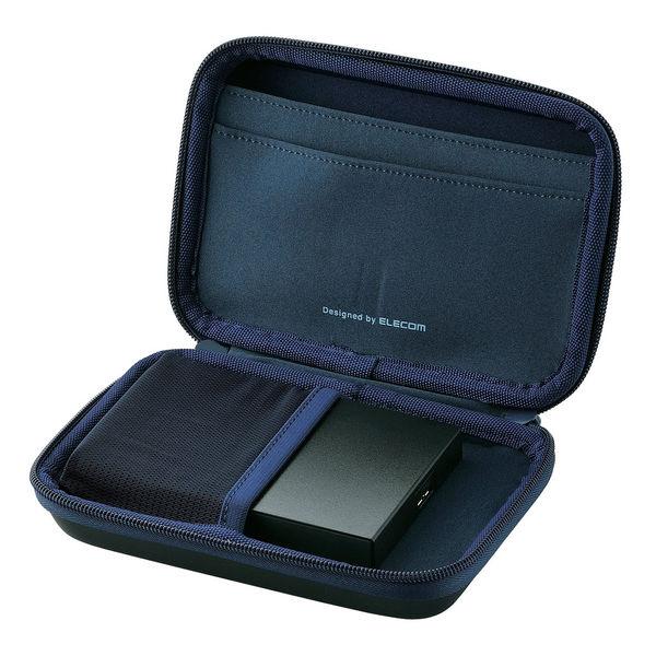 エレコム(ELECOM) ポータブルHDDケース セミハード Lサイズ ブラック HDC-SH002BK 1個 (直送品)