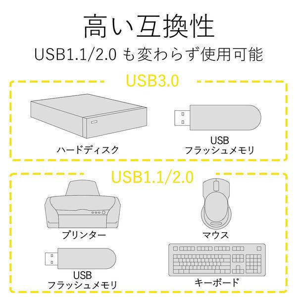 エレコム USBハブ(USB HUB) USB3.0ハブ(4ポートマグネット付き) ブラック セルフパワー 1m U3H-T410SBK 1個 (直送品)