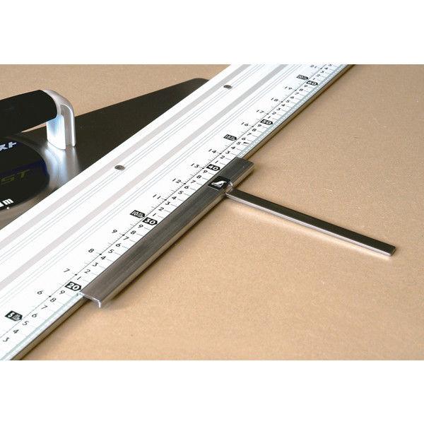丸ノコガイド定規 エルアングル アジャスト1m 併用目盛角度調整付 77373 シンワ測定 (直送品)