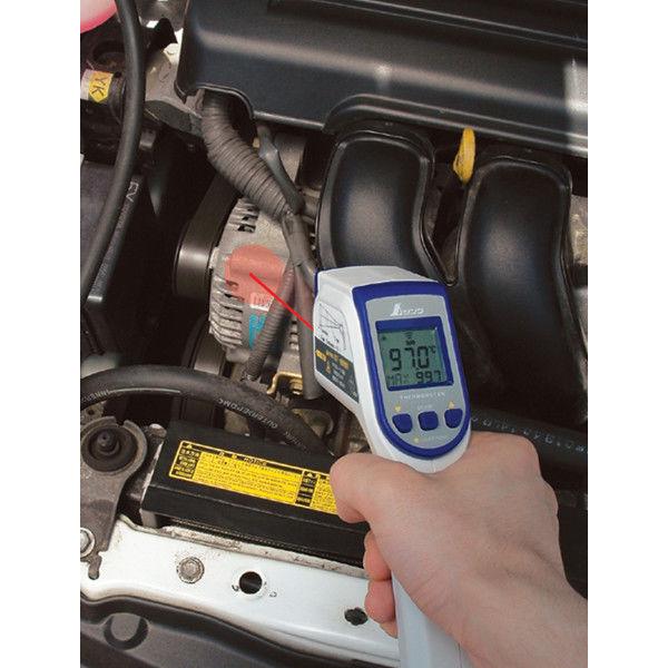 放射温度計 C レーザーポイント機能付 放射率可変タイプ 73014 シンワ測定 (直送品)