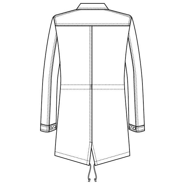 フォーク 国境なき医師団 医療白衣 メンズシングルコート 1536PP ホワイト S 1枚 (直送品)