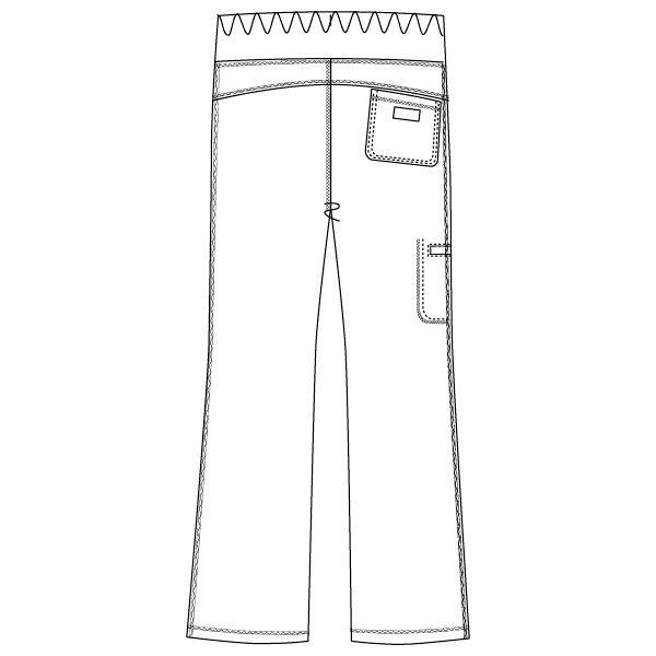 フォーク CHEROKEE(チェロキー) 医療白衣 パンツ CH351 ロイヤル L 1枚 (直送品)