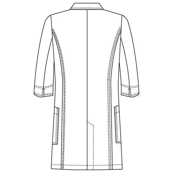 フォーク CHEROKEE(チェロキー) 医療白衣 レディスシングルコート CH450 ホワイト 4L 1枚 (直送品)