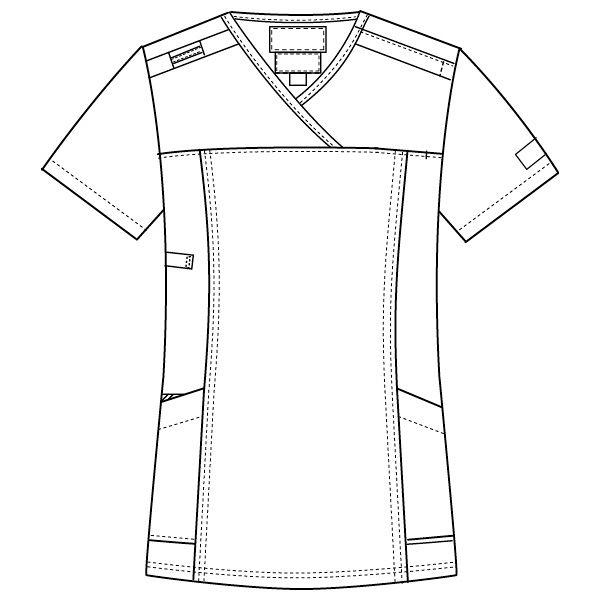 フォーク CHEROKEE(チェロキー) 医療白衣 スクラブ CH750 フュクシャ・ローズ L 1枚 (直送品)