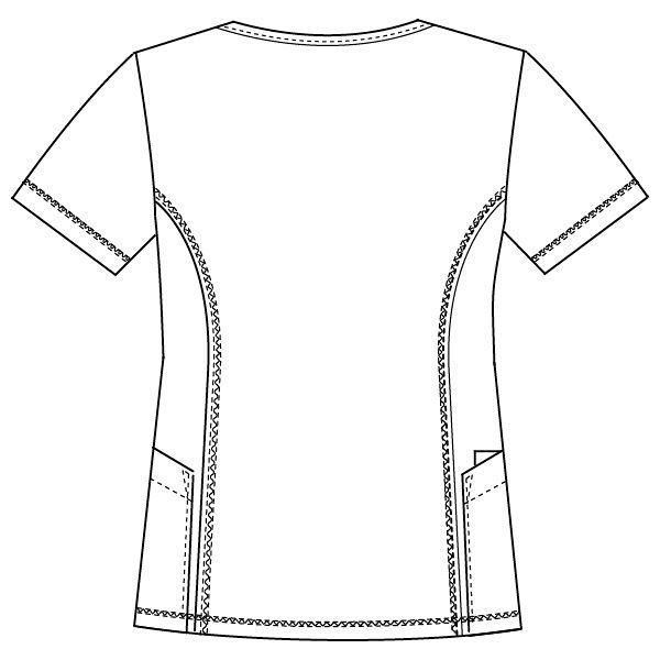 フォーク CHEROKEE(チェロキー) 医療白衣 スクラブ CH751 ロイヤル 4L 1枚 (直送品)