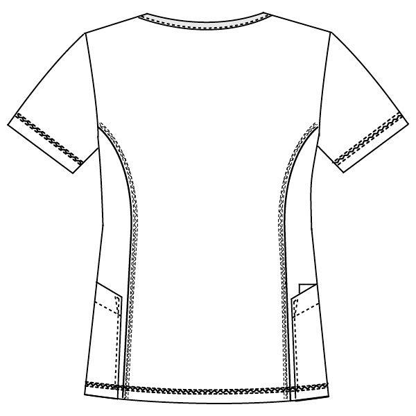 フォーク CHEROKEE(チェロキー) 医療白衣 スクラブ CH752 フュクシャ・ローズ EL 1枚 (直送品)