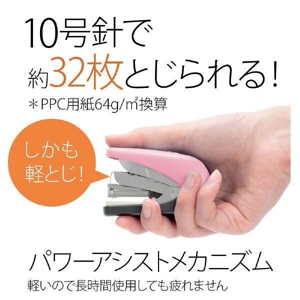 プラス フラットかるヒット32枚針付 ピンク ST-010VNH  1セット(1個) (直送品)