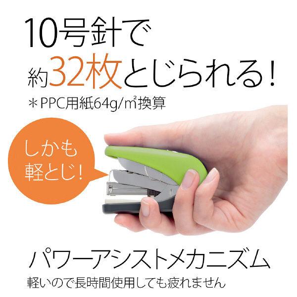 プラス フラットかるヒット32枚針付 グリーン ST-010VNH  1セット(1個) (直送品)