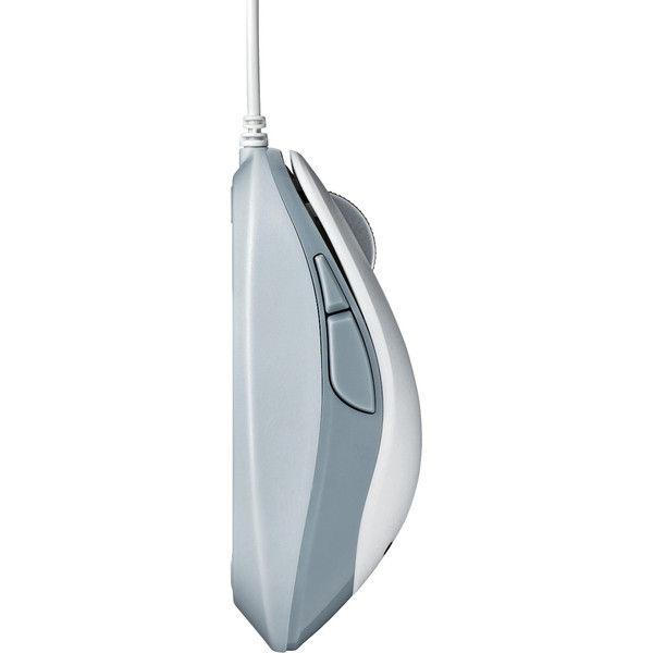 マウス 有線 5ボタン ブルーLED 左右対称 両利き対応 EPRIM ホワイト M-Y9UBWH エレコム 1個