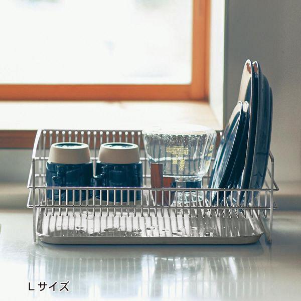 燕三条のステンレス製水切りカゴ L