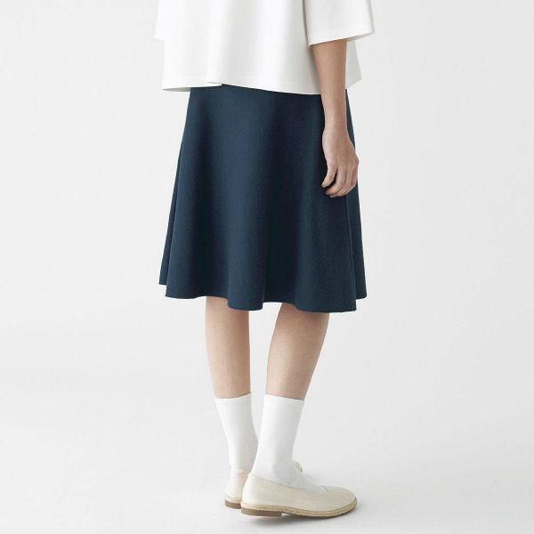 無印 Wフェイスフレアースカート 婦人M