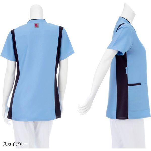 ナガイレーベン 男女兼用スクラブ スカイブルー S RT-5402(取寄品)