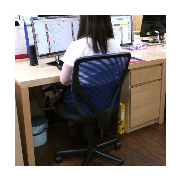 ネットフォース オフィスチェア ラパンチェア ブルー VTR-15-AW 1脚(直送品)
