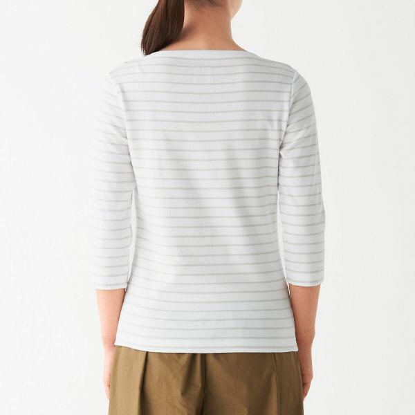 無印 フライス編みTシャツ 婦人 S
