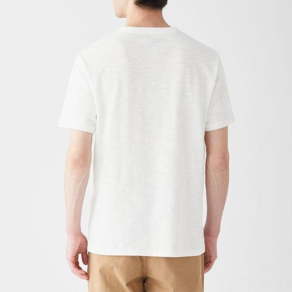 無印 ムラ糸半袖Tシャツ 紳士 XL